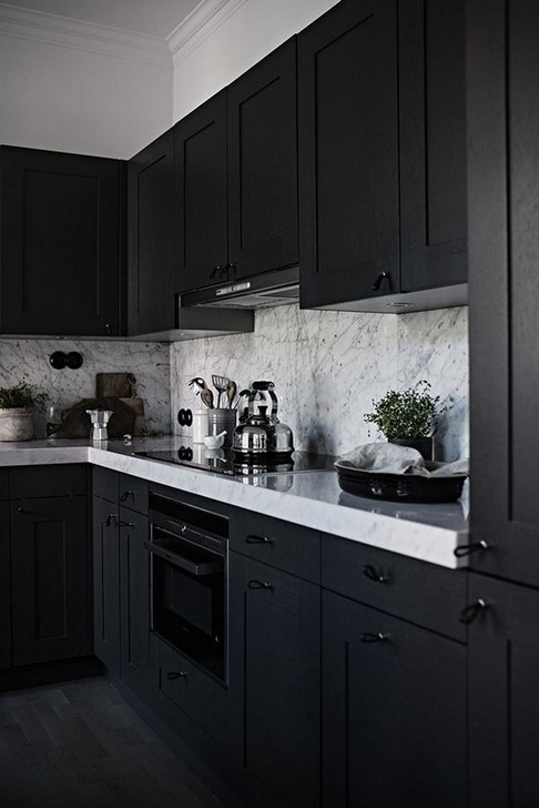 18 Black Kitchen Cabinet Ideas For The Chic Cook 06