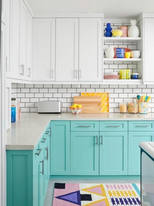 20 Colorful Kitchen Cabinets To Add A Spark To Your Home 05